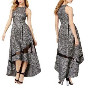 Sachin & Babi | Leopard Metallic Evening Gown